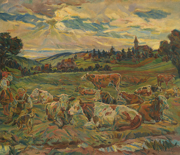 Gustáv Mallý – Lunch of a Cowherd