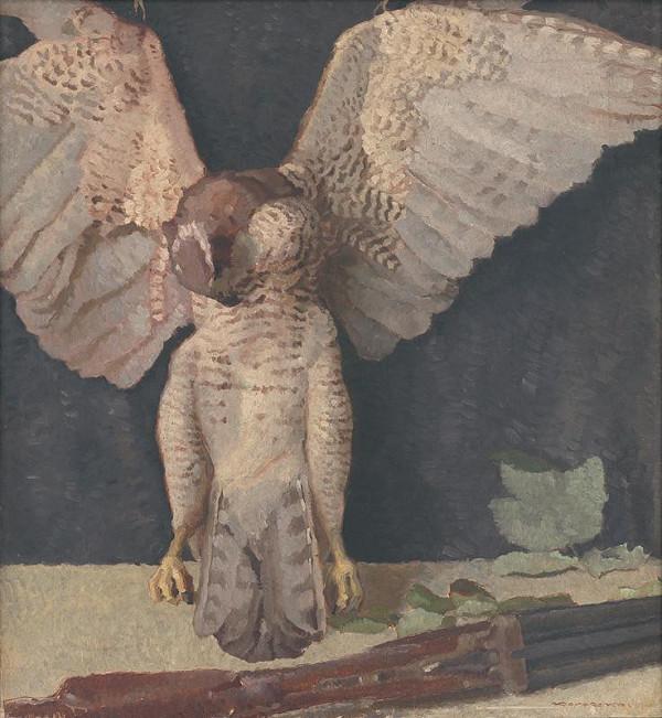 Július Koreszka – Still Life with an Owl