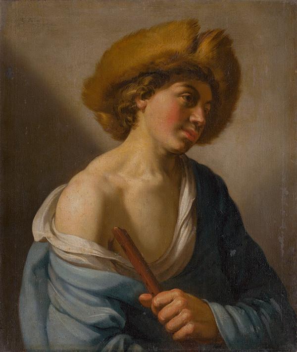 Hendrick Bloemaert – Shepherd with a Flute