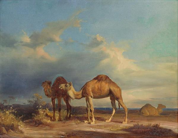 Karol Marko st. – Camels in a Southern Landscape