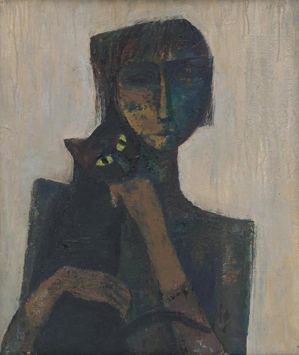 Viera Žilinčanová – Girl with a Cat