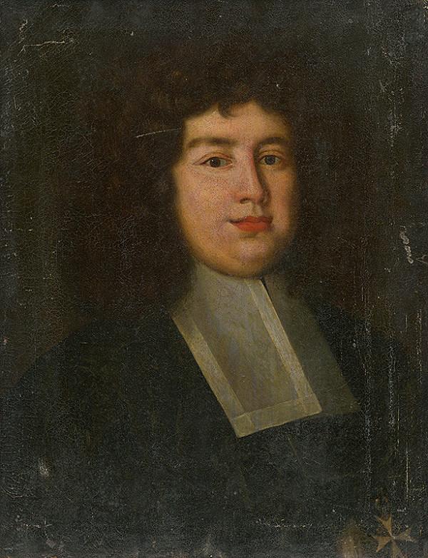 Západoeurópsky maliar z konca 17. storočia – Portrait of a Man in a White Collar