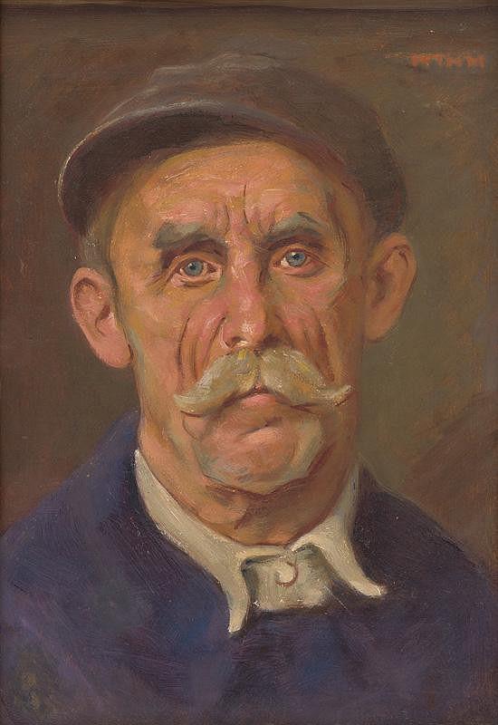 Milan Thomka Mitrovský - Portrait of a Worker
