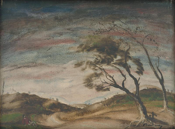 Július Rudnay - Landscape with Trees