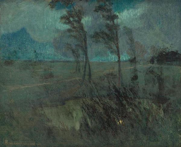 Karol Pongrácz - Landscape in a Windstorm