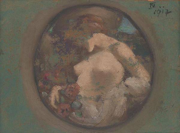 Milan Thomka Mitrovský – Study for the Painting 'Night'