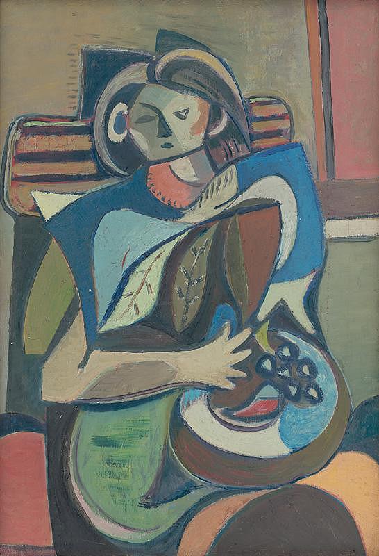 Jakub Bauernfreund - Seated Girl