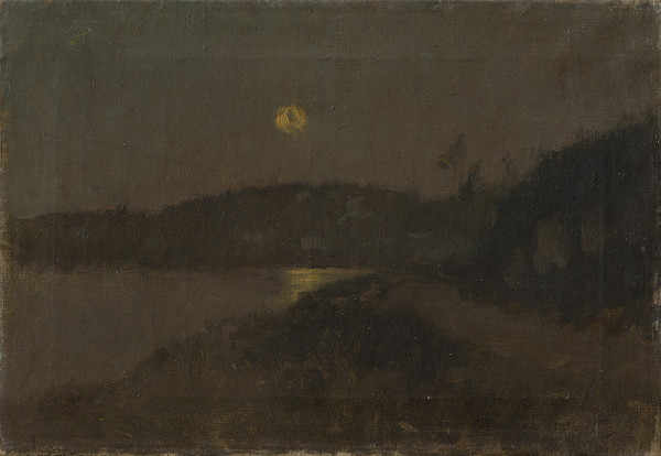 Ladislav Mednyánszky - Moonlit night by the River (Landscape by the Moonlight)