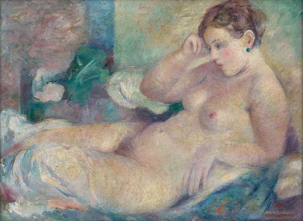 Bedrich Hoffstädter - Reclining Nude
