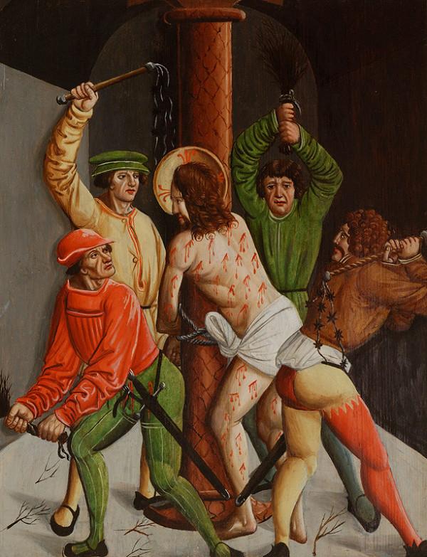 Slovenský maliar z 1. tretiny 16. storočia - Bičovanie Krista - 2 tabule