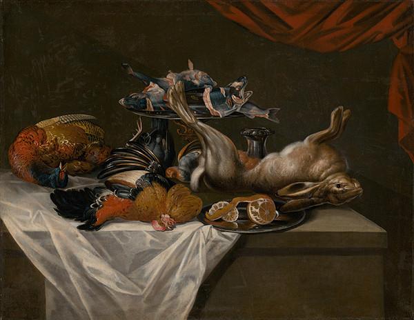Nemecký maliar z 1. polovice 18. storočia – Still Life with Game