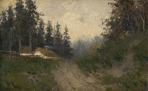 Felicián Moczik – Cottages in the Woods