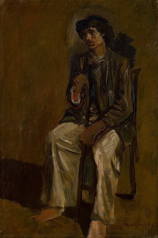Ladislav Mednyánszky - Seated Gypsy with a Staff
