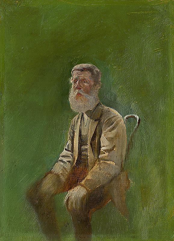 Ladislav Mednyánszky – Study of a Seated Man