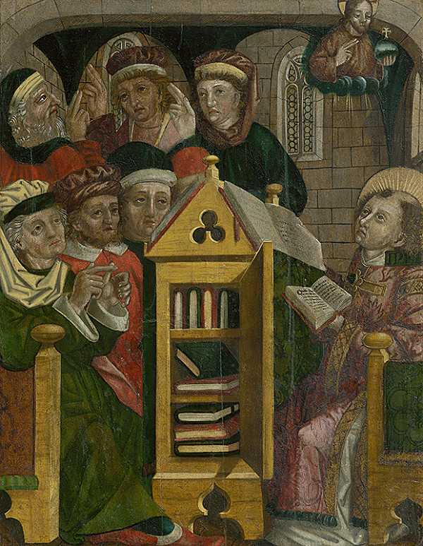 Neznámy stredoeurópsky maliar, Neznámy maliar - Saint Sebastian the Martyr among his Disciples