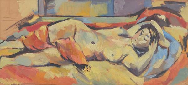Eugen Nevan - Reclining Nude