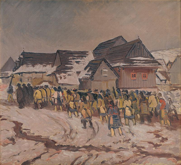 Jan Hála - Funeral in Važec