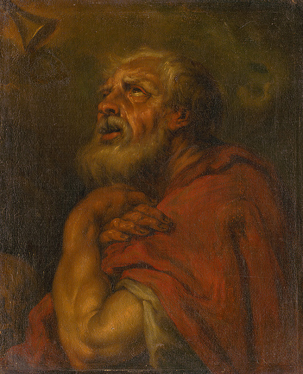 Taliansky maliar zo 16. - 17. storočia - Head of an Apostle