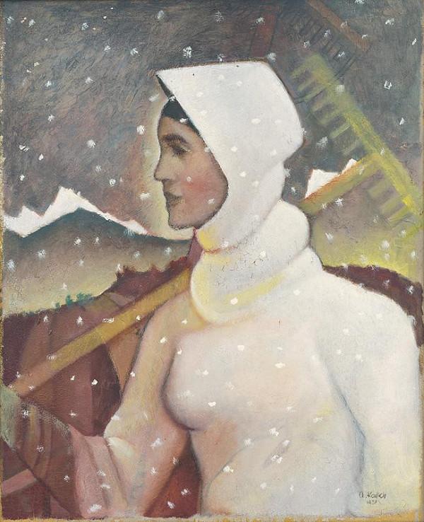 Aurel Kajlich - Woman in Winter