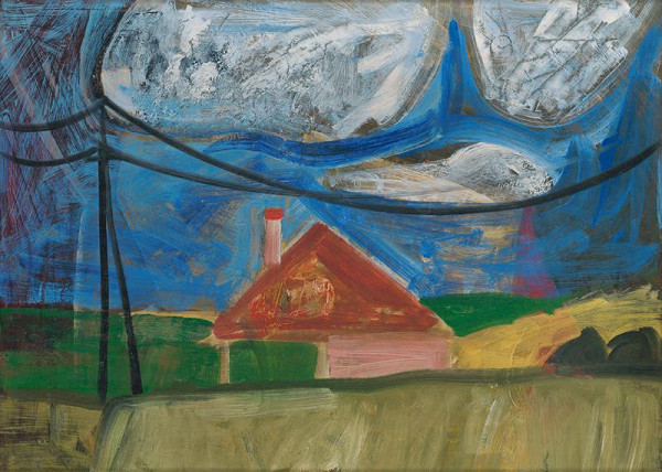 Ervín Semian - Landscape with a House