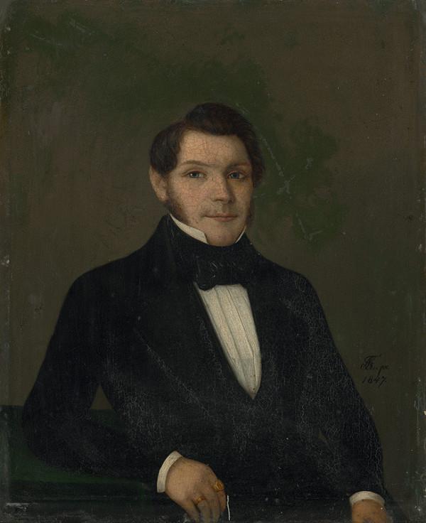 Karol Tibély – Portrait of a Man