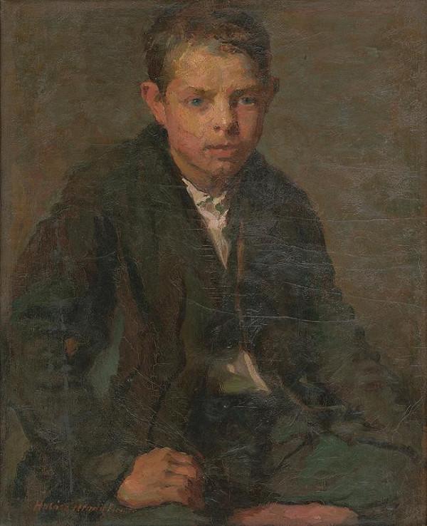 Elemír Halász-Hradil – Portrait of Labourer Boy