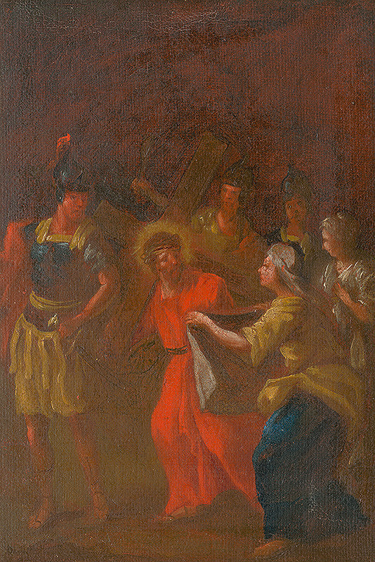 Štefan Schaller, Slovenský maliar z 3. tretiny 18. storočia - Veronica Wipes the Face of Jesus. Study for the Stations of the Cross VI.