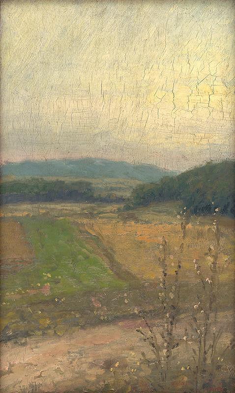Elemír Halász-Hradil – Landscape with Hills in the Background