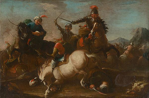 Stredoeurópsky maliar z 18. storočia, Neznámy maliar, August Querfurt – Battle Scene