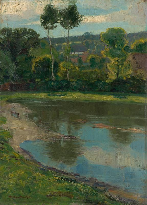 Martin Benka – Landscape with a Pond I.