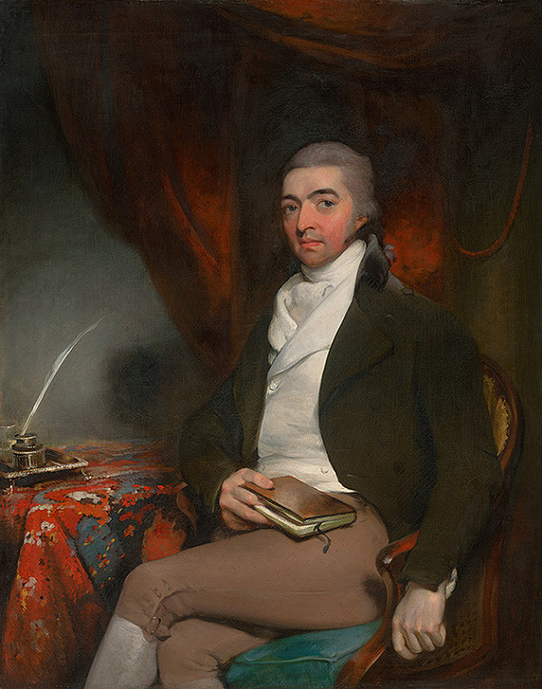 Thomas Lawrence – Portrait of a Seated Man with a Book