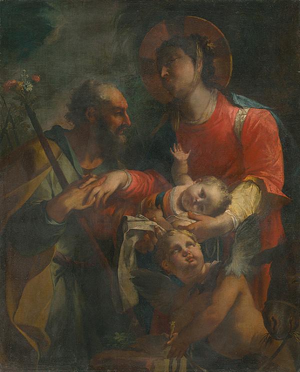 Taliansky maliar z 18. storočia – Holy Family