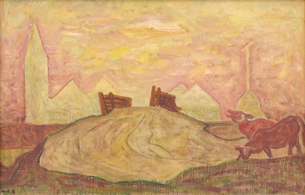 Miloš Alexander Bazovský – Landscape with Bridge