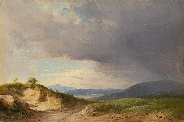 Karol Marko st. – Hilly Landscape with Cloudy Skies