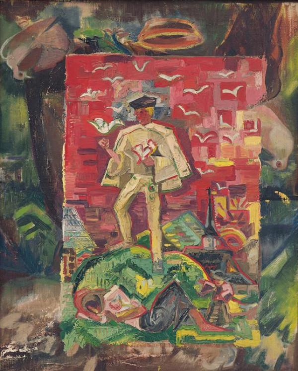 Arnold Peter Weisz-Kubínčan – Symbolic Figure of a Man in a Folk Costume