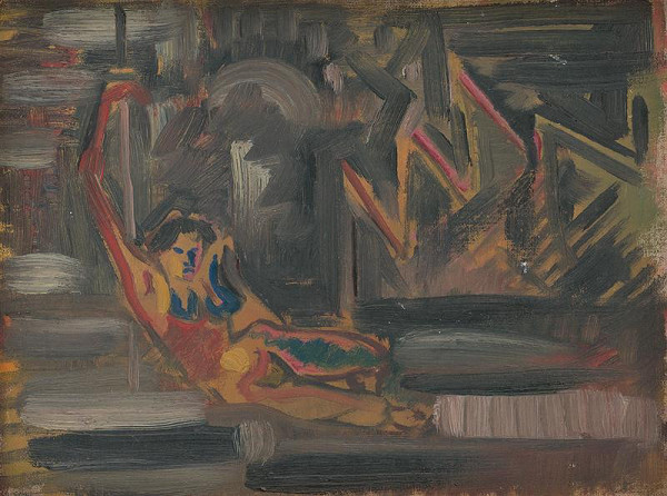 Arnold Peter Weisz-Kubínčan - Reclining Woman