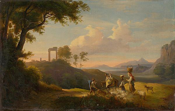 Karol Marko ml. - Figural Scene in South Italian Landscape