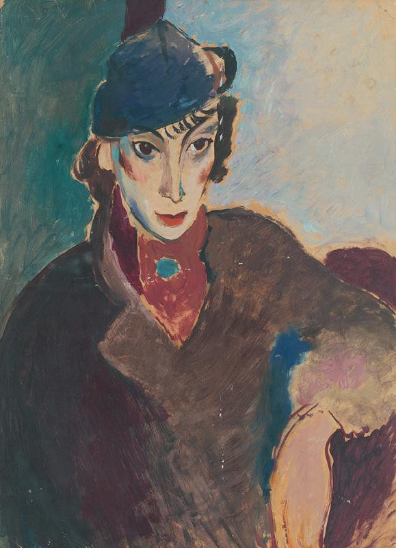Karel Veselý - Woman in a Hat