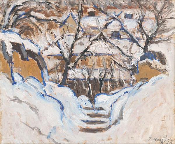 Jozef Kollár - Winter in a Garden