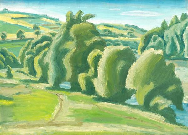 Ernest Zmeták – Trees by the River