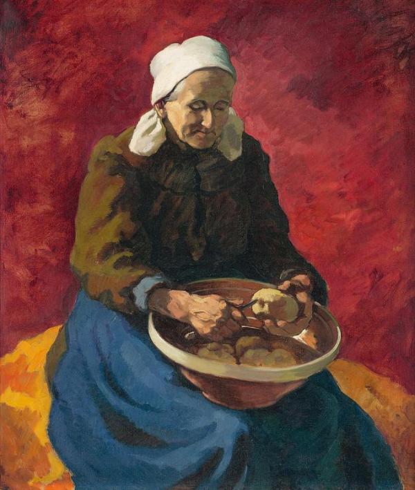 Edmund Gwerk – Peeling Potatoes