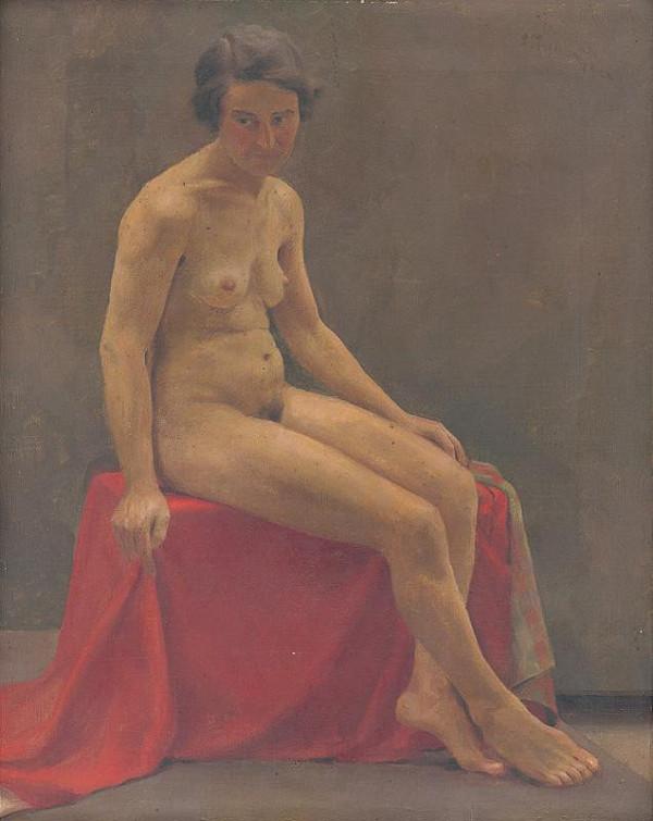 Ladislav Treskoň – Seated Nude