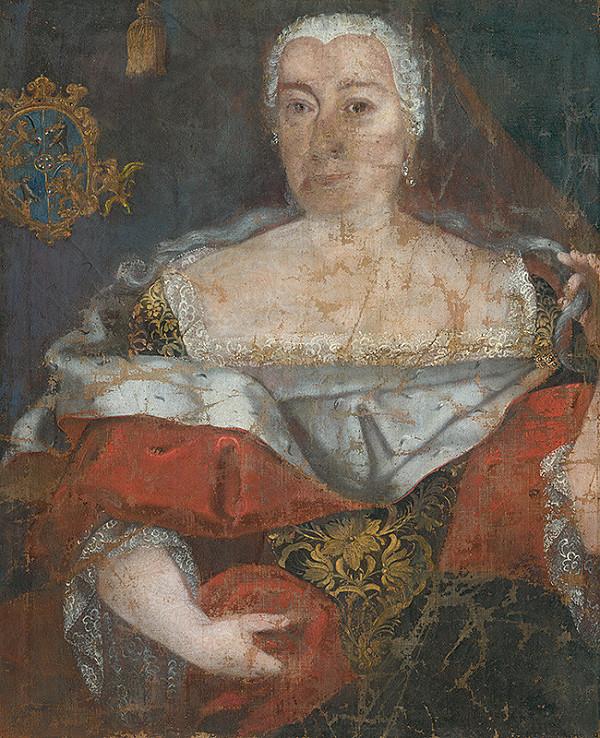 Slovenský maliar okolo polovice 18. storočia, Neznámy maliar – Portrait of a Zemianka in a Brocaded Cloak