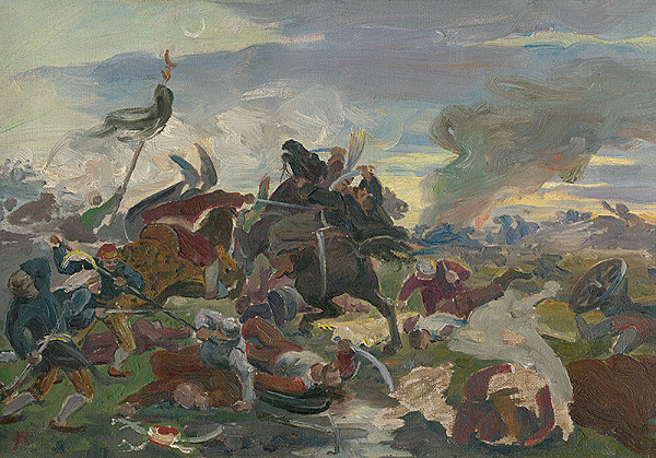 Jozef Hanula - The Death of Tomory in the Battle of Mohács