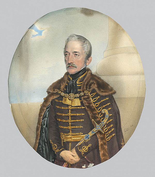 Franz Eybl - Portrait of a Nobleman with a Sword