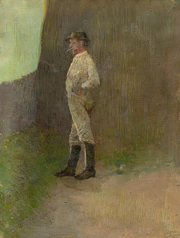 Ladislav Mednyánszky - Study of a Standing Lad in the Boots