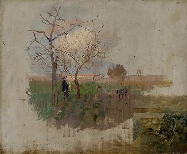 Ladislav Mednyánszky - Autumn in an Orchard