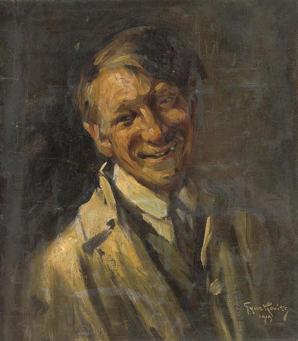 František Gyurkovits - Portrait of a Man