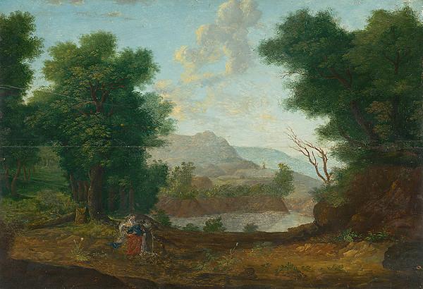 Západoeurópsky monogramista W.P. z roku 1620 - Mountain Landscape with a Pond