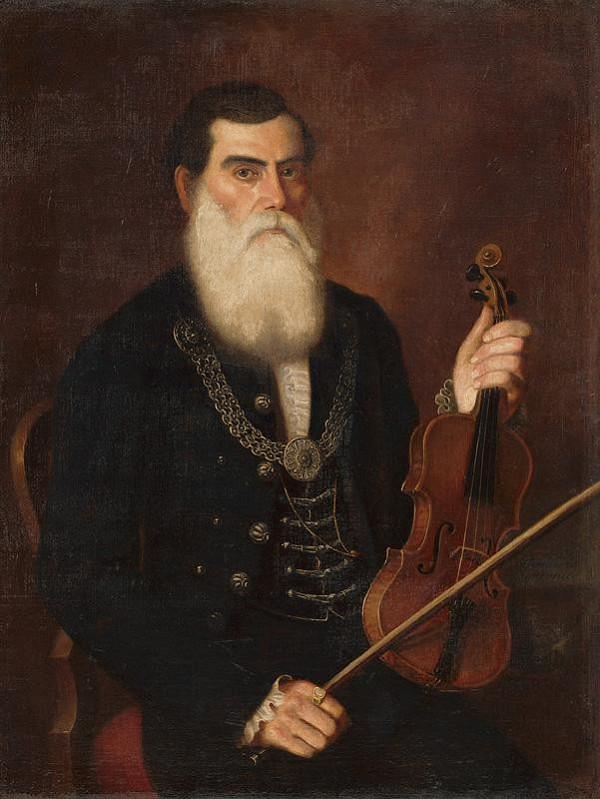 Eduard Ballo – Portrait of Lead Fiddler Piťo (Copy according to P. M. Bohúň)